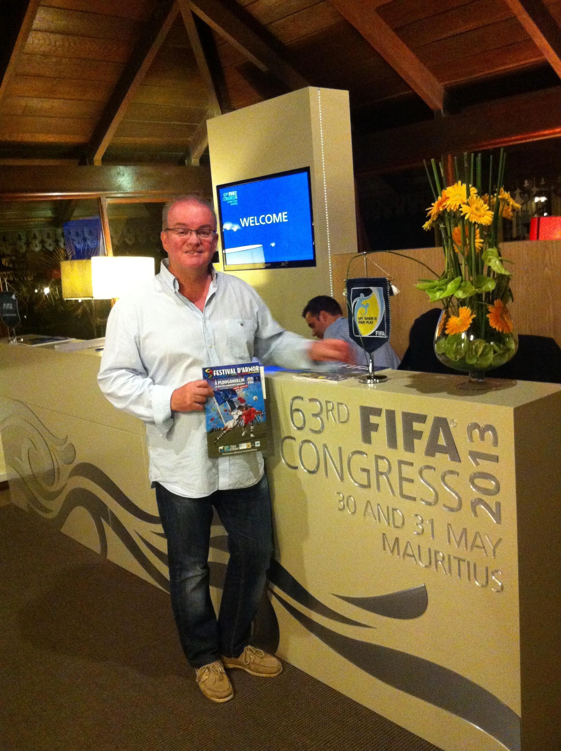 Le président Corre au 63ème Congrès de la FIFA 1