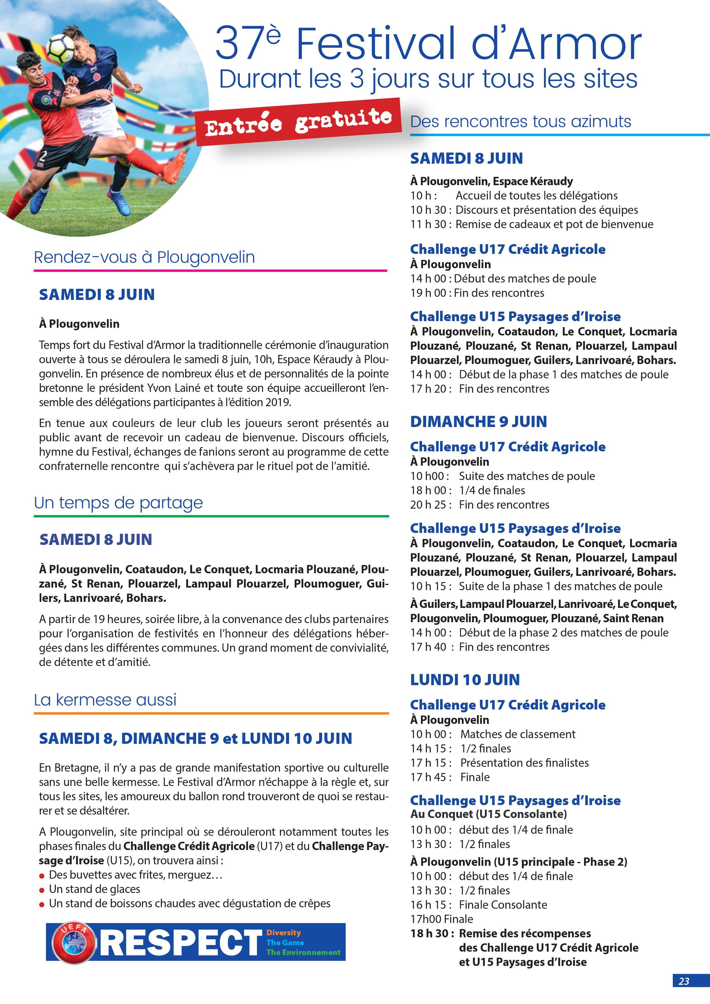 Programme du Festival d'Armor 1